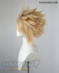 "S-5 KA011 31cm / 12.2"" short Honey Butter blonde spiky layered cosplay wig"