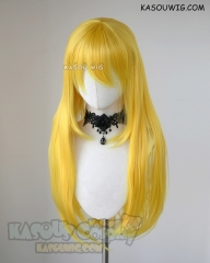 L-2 / SP35 bright yellow 75cm long straight wig . Heating Resistant fiber