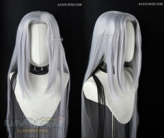 Final Fantasy VII Sephiroth 110cm long silver straight wig