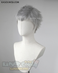 Devil May Cry 5 Nero short light gray faux-hawk cosplay wig