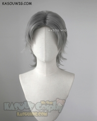 Devil May Cry 5 Dante short gray middle-parted wig
