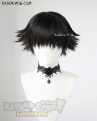 Devil May Cry 5  Lady short natural black flippy wig
