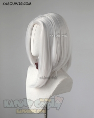Overwatch Ashe silver white side-parted asymmetric bob shoulder-length cosplay wig