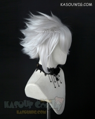 "S-5 KA002 31cm / 12.2"" short silver white spiky layered cosplay wig"