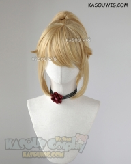 Super Mario Bowsette blonde clip on ponytail cosplay wig