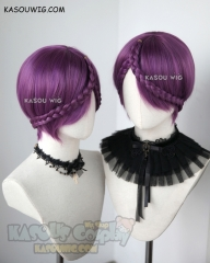 Houseki no Kuni Amethyst short purple cosplay wig with clip-on braid