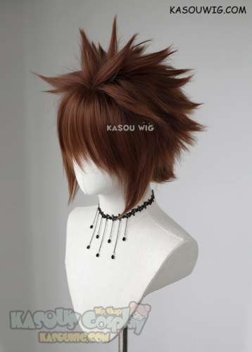 "S-5 KA026 31cm / 12.2"" short Walnut Brown spiky layered cosplay wig"