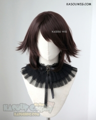Final Fantasy Yuna short brown flippy cosplay wig