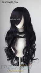 L-3 / SP31 deep purple long layers loose waves cosplay wig . heat-resistant fiber