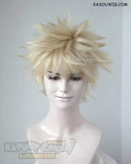 My Hero Academia Bakugo Katsuki short blonde fluffy wig with spikes