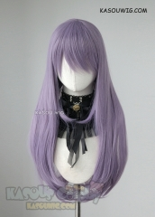 L-2 / SP33 grayish purple long  75cm long straight wig . Heating Resistant fiber