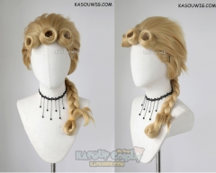 JOJO  JoJo's Bizarre Adventure Giorno Giovanna VER 2 medium braided blonde cosplay wig