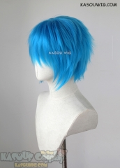 "S-1 / KA047 >>31cm / 12.2"" short blue layered wig, easy to style,Hiperlon fiber"