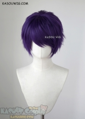 "S-1 / SP37 >>31cm / 12.2"" short Indigo Purple layered wig, easy to style,Hiperlon fiber"