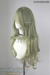 L-3 / SP36 Chartreuse long layers loose waves cosplay wig . heat-resistant fiber