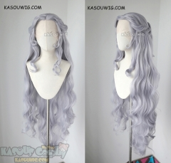 Lace Front >> Voltron Legendary Defender Princess Allura 120cm long silver Lavender pre-styled wavy cosplay wig