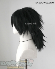 Kimetsu no Yaiba Demon Slayer Giyu Tomioka black ponytail cosplay wig