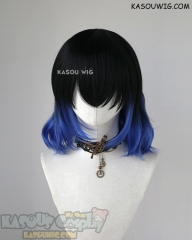 Kimetsu no Yaiba Demon Slayer Inosuke Hashibira black blue ombre cosplay wig