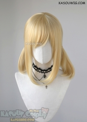 "40cm/15.7"" Fairy Tail Lucy Heartfilia long straight pigtails light yellow blonde cosplay wig KA008"