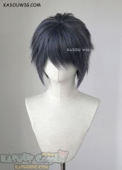 "S-1 / SP29 >>31cm / 12.2"" short bluish gray layered wig, easy to style,Hiperlon fiber"