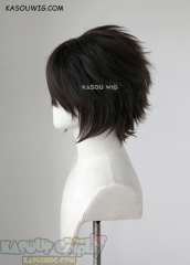 "S-1 / KA031 >>31cm / 12.2"" short deepest brown layered wig easy to style"