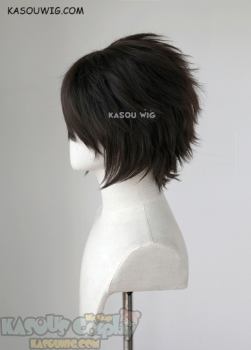 "S-1 / KA031 >>31cm / 12.2"" short Natural Black layered wig, easy to style,Hiperlon fiber"