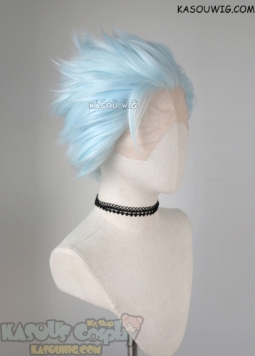 Lace Front>> Seven Deadly Sins Ban Light Cyan all back spiky cosplay LFS-1