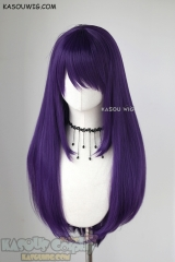 L-2 / SP37 High Score Girl Akira Oono Indigo Purple 75cm long straight wig . Heating Resistant fiber