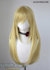 L-2 / KA010 light yellow blonde 75cm long straight wig . Heating Resistant fiber