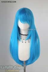 L-2 / KA047 blue 75cm long straight wig . Heating Resistant fiber