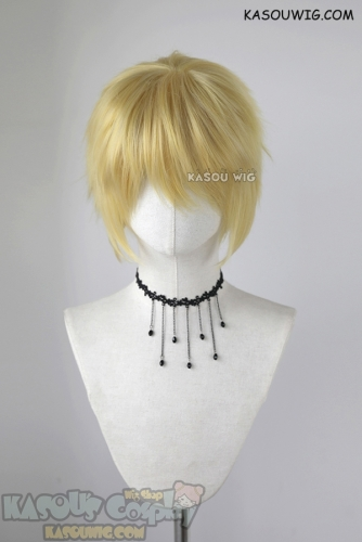 "S-1 / KA010 >>31cm / 12.2"" short light yellow blonde layered wig, easy to style,Hiperlon fiber"