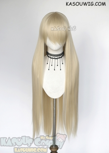 "L-4  KA006 100cm / 39.5""long straight versatile light blonde cosplay wig"