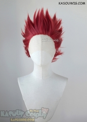 Lace Front>> My Hero Academia Kirishima Eijiro short red spiky cosplay wig KA042
