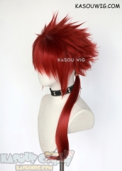 Final Fantasy 7 FF7 Reno red spiky cosplay wig with ponytail