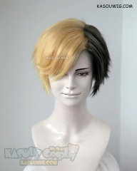 Gravity Falls Bill Cipher short yellow brown split cosplay wig
