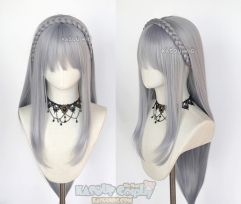 Re Zero / Re Life in a Different World from Zero Emiria 110cm long straight silver lavender cosplay wig . SP26