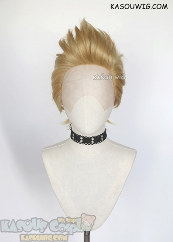 Lace Front>> My Hero Academia The Big 3 Mirio Togata Lemillion short blonde cosplay wig