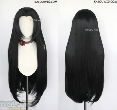 Kimetsu no Yaiba Demon Slayer Kanae Kocho 90cm long black cosplay wig