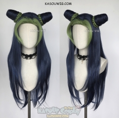 JOJO JoJo's Bizarre Adventure Jolyne Kujoh long VER. blue green cosplay wig with buns