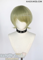 Fire Emblem Three Houses Byleth male short bowl cut layered green cosplay wig