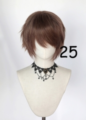 "S-1 style>>31cm / 12.2"" short brown layered wig, easy to style,Hiperlon fiber"