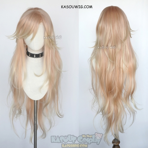 Kimetsu no Yaiba Demon Slaye Douma 100cm long layered peach blonde omber wig