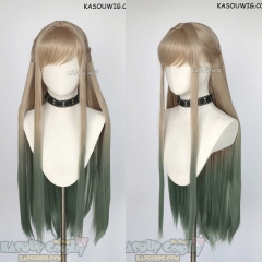 Jibaku Shounen Hanako-kun Yashiro Nene 90cm long honey beige to green ombre wig