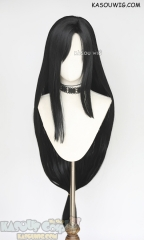 Final Fantasy VII FF7 Tifa Lockhart 110cm long straight natural black wig