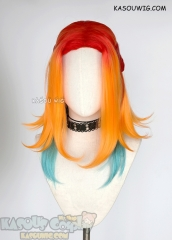 League of Legends Star Guardian Neeko multi-colors ombre wig