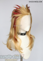 Lace Front>>Kimetsu no Yaiba Demon Slayer Kyojuro Rengoku layered golden wig