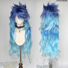 Twisted-Wonderland Idia Shroud 110cm/43.3'' blue ombre layered wig