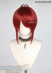 Twisted Wonderland Riddle Rosehearts short red wig