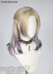 Twisted Wonderland Vil Schoenheit pre-styled shoulder length wig blonde to purple ombre