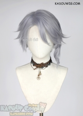 Twisted Wonderland Azul Ashengrotto silver lavender short wig
